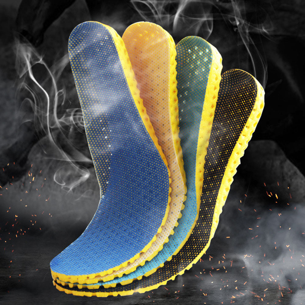 1 Pair Orthopedic Memory Foam Sport Shoe Insoles For The Feet Arch Support Shoe Pad Light Breathable Anti-Slip Soft Insert Soles
