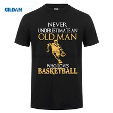 GILDAN Fashion Short Gildan Crew Neck Never Underestimate An Old Man Basketballer T Shirts