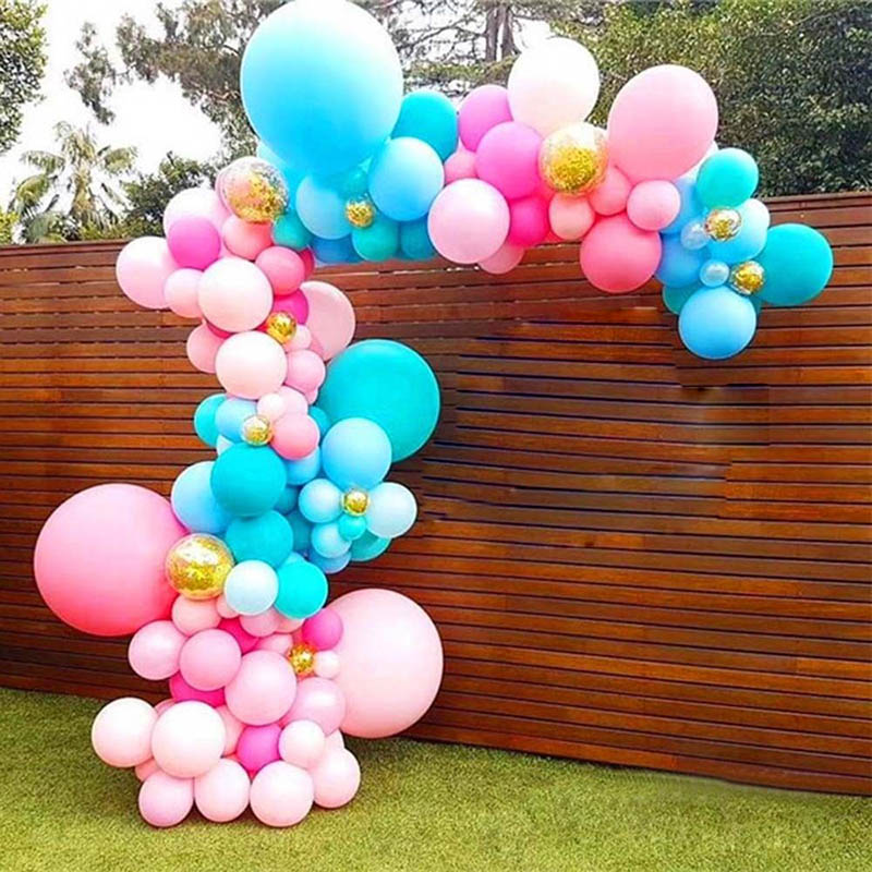 5 Pcs 5m Balloon Chain Tape Arch Connect Strip for Wedding Birthday Party Decor Garland Streamer WXV Sale in Ballons Accessories from Home Garden