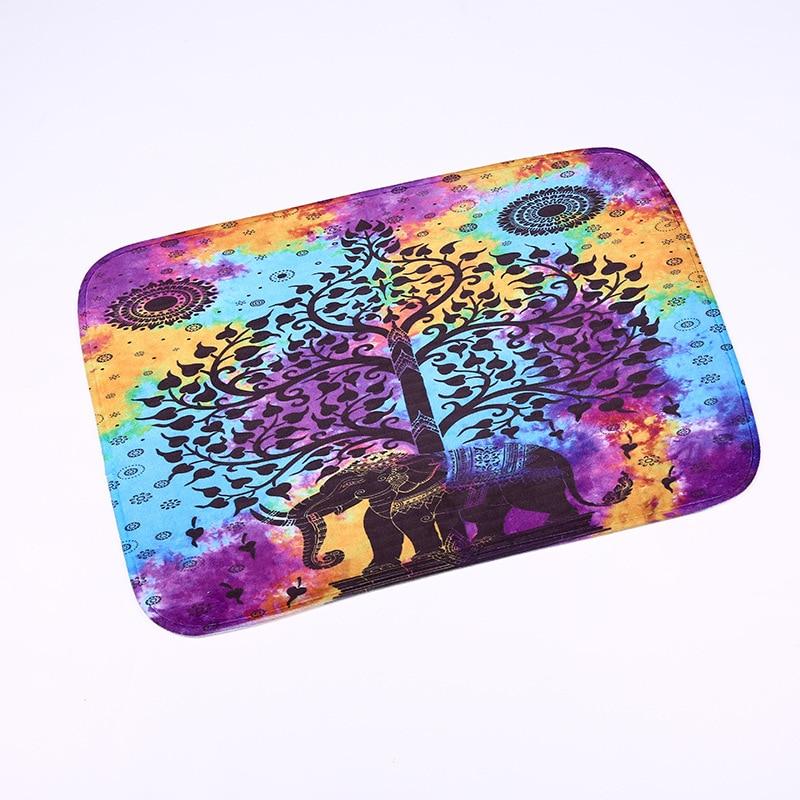 Anti-Slip Rectangle Rugs for Living Room Doormat Mandala Print Carpet Floor Mats for Bedroom Bohemia Kids Chair Mats Home Decor