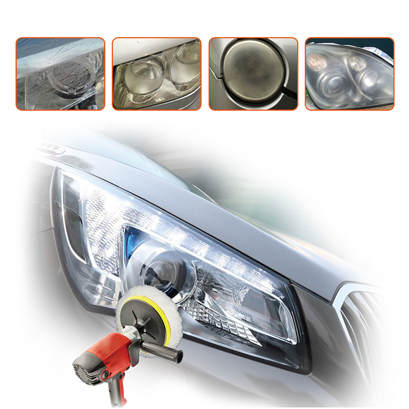 VISBELLA Headlamp Polishing Paste Kit DIY Headlight Restoration for Car Care Repair Hand Tool Sets Head Lamp Lenses by Machine