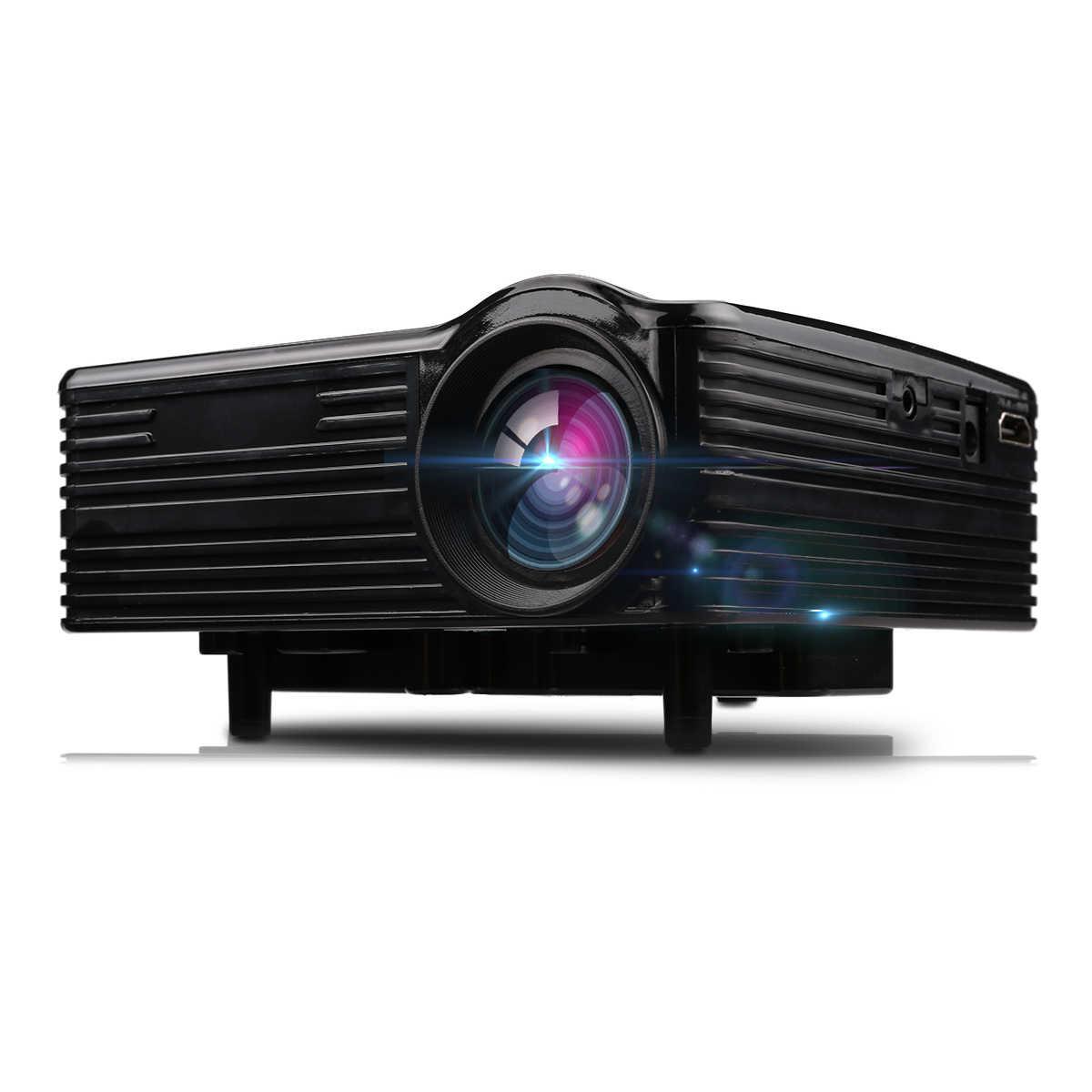 Excelvan LED1018 мини портативный проектор с ЖК-дисплеем HDMI USB VGA AV SD мультимедийные интерфейсы Max 1080 P фильм домой Кино PK YG300 YG310