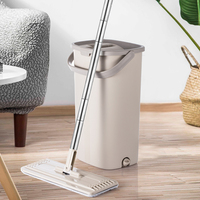 Magic Flat Mop And Bucket Hand Free 360 Degree Head Self Cleaning Great for Wet And Dry Cleaning Safe on all Surfaces Cleaning