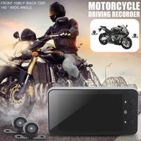 Motorcycle Camera DVR Locomotive Recorder Front and Rear Double Lens Dash Cam with Dual track Recording Hidden Driving Recorder