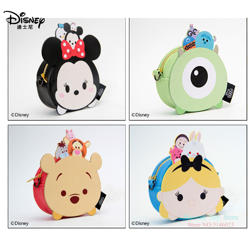 Genuine Disney Tsum Tsum Fashion Women Bags New PU Little Wallet Purse Baby Care Bags Cute Mummy Bags Girls Gifts Hot Sale Set(China)