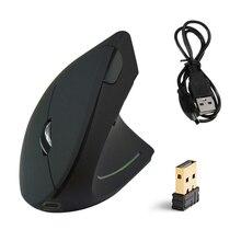 Novo rato sem fio recarregável 2.4ghz vertical gaming mouse 800 1600 2400 dpi computador ergonômico ratos para computador portátil escritório usb