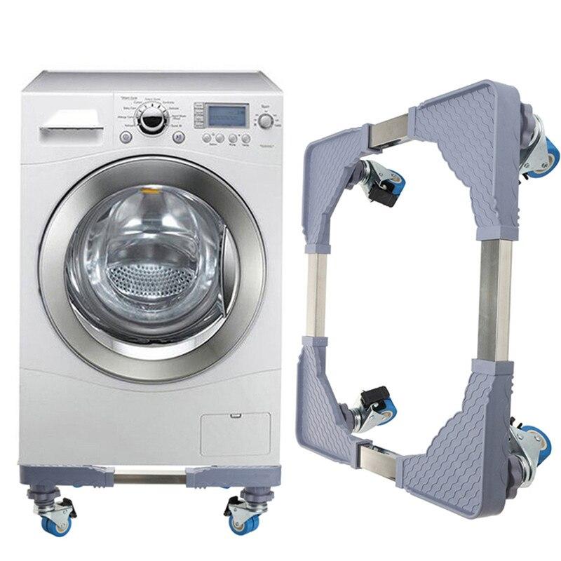 Support pour lave-linge en acier inoxydable 18.5x18.5 cm support pour réfrigérateur support pour réfrigérateur support de support pour chariot mobile