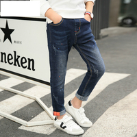 boys pants kids jeans 2018 casual Spring Mid Elastic Waist Pants for Boy jeans kids Clothing Children Trousers