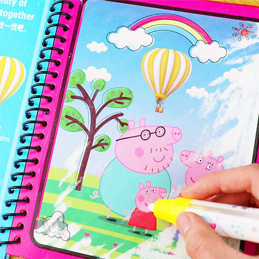 Montessori Coloring Book Rabisco & Magic Pen Pintura Prancheta Para As Crianças Brinquedos Desenho Água Mágica Presente de Aniversário Livro