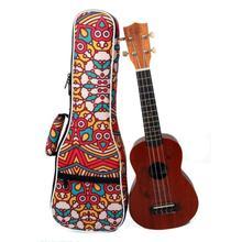 23 Inch Tropical Pattern Style Ukulele Guitar Bag Backpack Double Shoulder Strap Cotton Soft Padded Ukelele Carrying Case 21 23 ukulele backpack portable soft pad cotton thickening folk style ukelele case cover