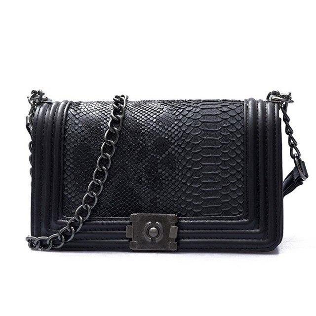 2019 Luxury Handbags Women Bags Designer Flap Black Party Chain Vintage  Shoulder Bag Serpentine Purses Female b0dc47c340e6b