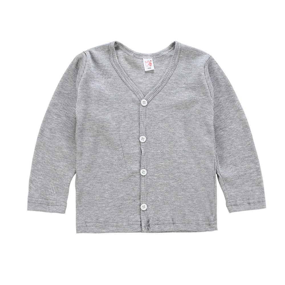 Casual Kids Baby Jongen Meisje Gebreide Trui Vest Jas Lange Mouw Tops Uitloper