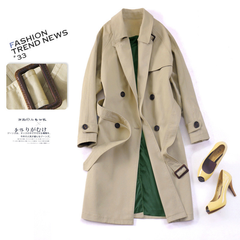 Windbreaker Long Ol Loose Trench Female Coat For Women Suit-Dress Modis Manteau Femme Casacos Femininos Moda Mujer Woman Clothes