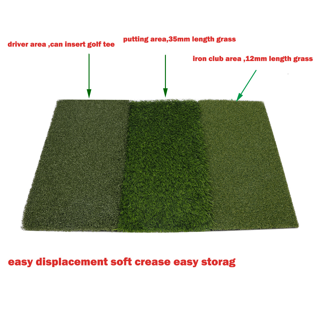 Image 2 - Golf Grass Mat Includes Tight Lie Rough and Fairway for Driving and Putting Golf practice and Training 3 in 1 Turf Grass Mat-in Golf Training Aids from Sports & Entertainment