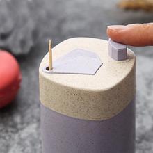 Творческий Автоматическая подставка для Зубочисток контейнер пшеничной соломы для домашего обеденного стола зубочистка коробка для хранения Диспенсер Для Зубочисток