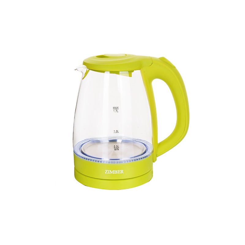 лучшая цена Чайник электрический ZIMBER, 1,7 л, 2200W, салатовый