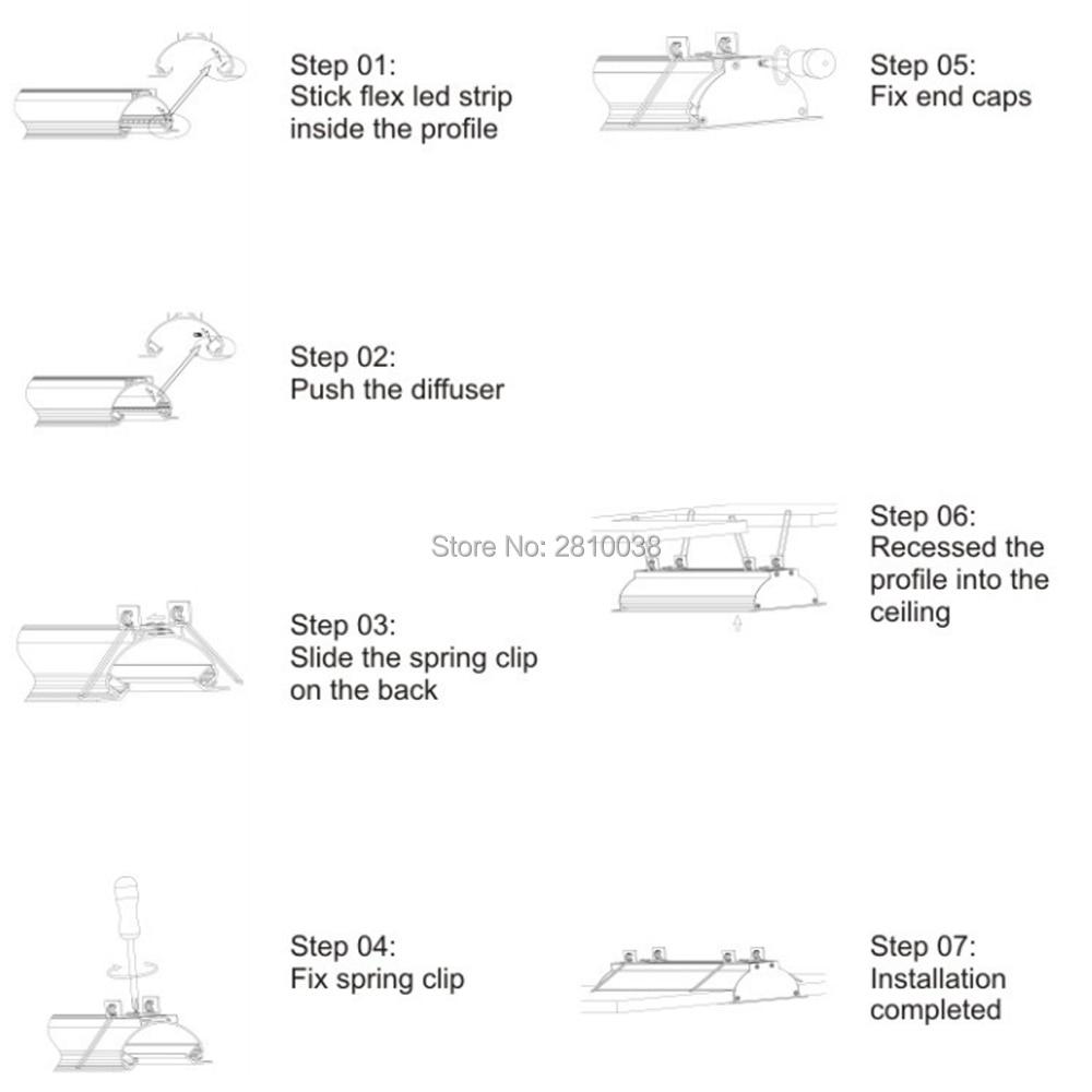 perfil de aluminio para tiras led tira conduzida habitacao ts10 04