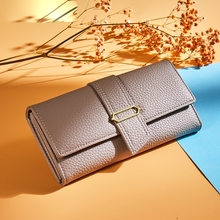 Womens Wallet Large-Capacity Mobile Phone Coin Purse Clutch Multi-Card Long Ladies Leather