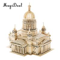 Wooden 3D Puzzle DIY Assembly Church Building Model Architecture Children Adult Puzzle Jigsaw Kids Toy Gift