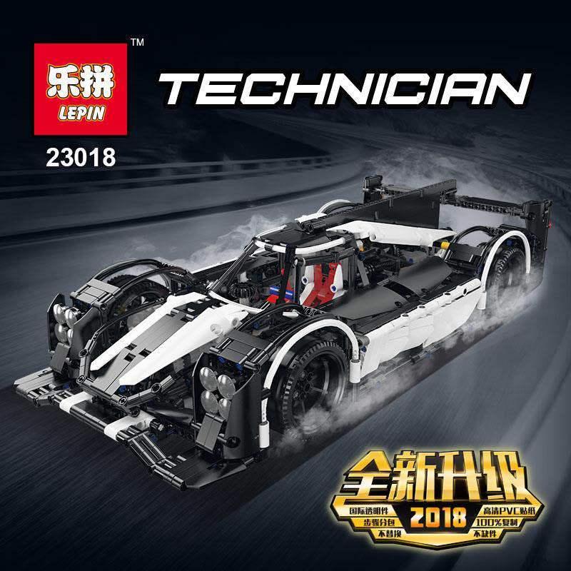 2018 nouveau Lepin Technic série 23018 Moc 5530 hybride Super blocs de voiture de course briques construction jouets éducatifs modèle cadeaux drôles