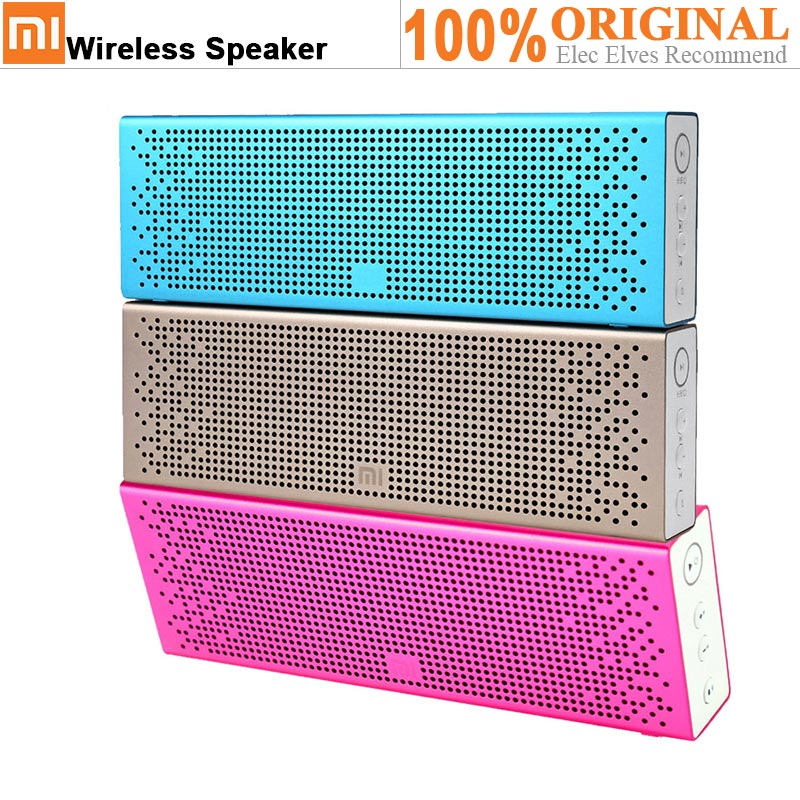 Original XiaoMi Bluetooth 4.0 Speaker Built-In Battery Support Hands-Free Calls For IPhone 6S / 6S Plus / IPad Pro MP3 Player все цены