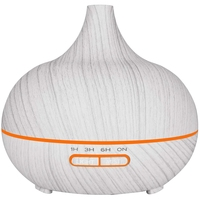 300Ml Elektrische Luftbefeuchter Aroma Öl Diffusor Ultraschall Weiß Holzmaserung Luftreiniger Für Home Uk Stecker