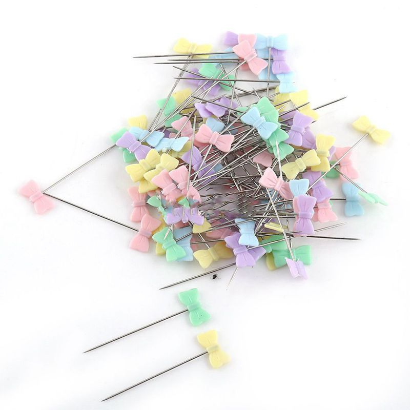 100pcs/bag Pins Mixed Colors Sewing Patchwork Pins Flower Head Pins Sewing Tool Needle Arts Sewing Accessories Tie