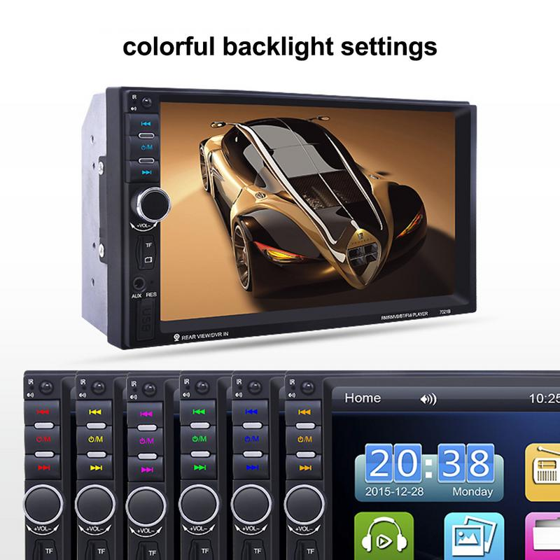 7 Inch Car 2 Din MP5 Car Audio HD MP5 Video Player Bluetooth Hands-Free Car Stereo FM USB AUX Car Player7 Inch Car 2 Din MP5 Car Audio HD MP5 Video Player Bluetooth Hands-Free Car Stereo FM USB AUX Car Player