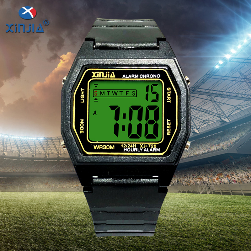 XINJIA Mens sports electronic watch waterproof timekeeping Shockproof Antimagnetic multi-function male watches Resin strap все цены