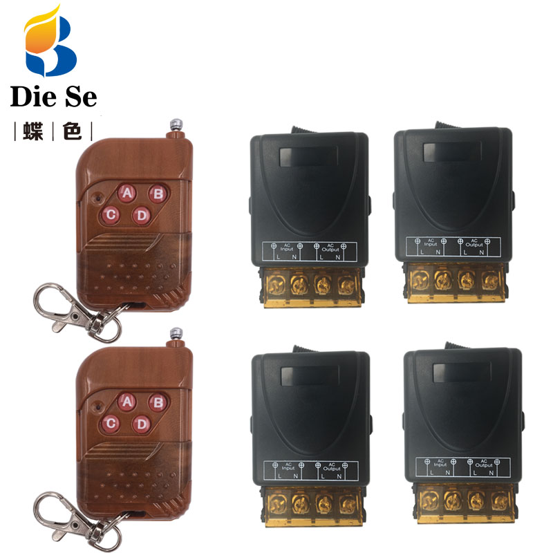 AC 75~220V 30A 1CH Remote Control Switch Wireless Receiver Relay Module for rf 433MHz Garage Lighting Electric Door