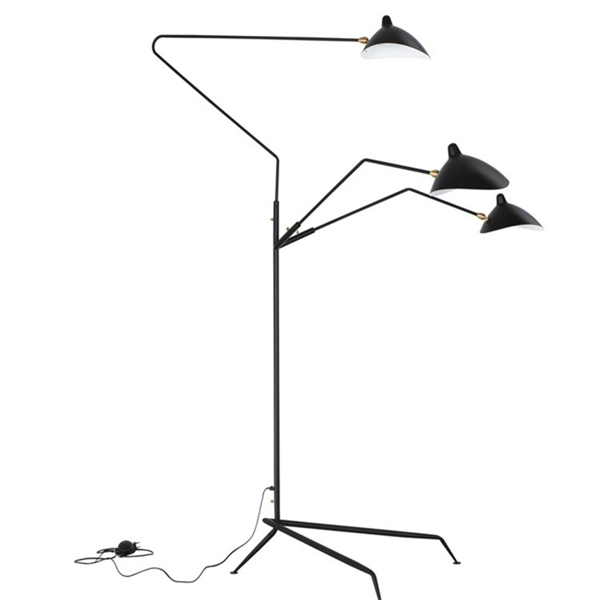 Image 5 - Modern Replica Design Black Floor Lamp Mantis Arm Floor Standing Lamp Nordic Loft Industrial Bedroom Decorate Standing Lamp-in Floor Lamps from Lights & Lighting