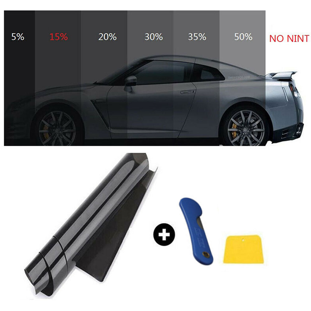 300x50cm Car Home Window Glass Tint Tinting Film Roll Auto Side Window Solar Protection Sticker With Scraper 15%
