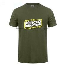 GILDAN Stranger Things Design T Shirt 2017 New Letter Printing May The Force Turbo Focus Racer Rally Car Drifting Shirts