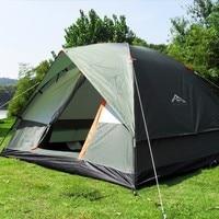 3 4 Person Windbreak Camping Tent Dual Layer Waterproof Anti UV Tourist Tents Portable Outdoor Fishing Hiking Tent 200x200x130cm