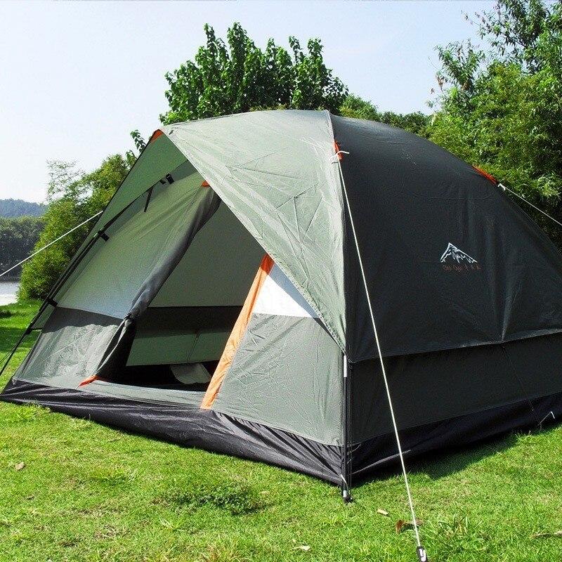 3-4 personne Brise-Vent tente de camping Double Couche Étanche Anti UV Tentes Touristiques Portable Pêche En Plein Air tente de randonnée 200x200x130 cm