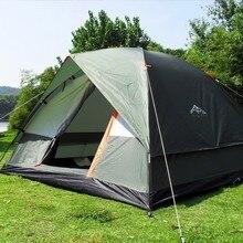 3 4 pessoa windbreak barraca de acampamento dupla camada impermeável anti uv tendas turísticas portátil ao ar livre pesca caminhadas tenda 200x200x130cm