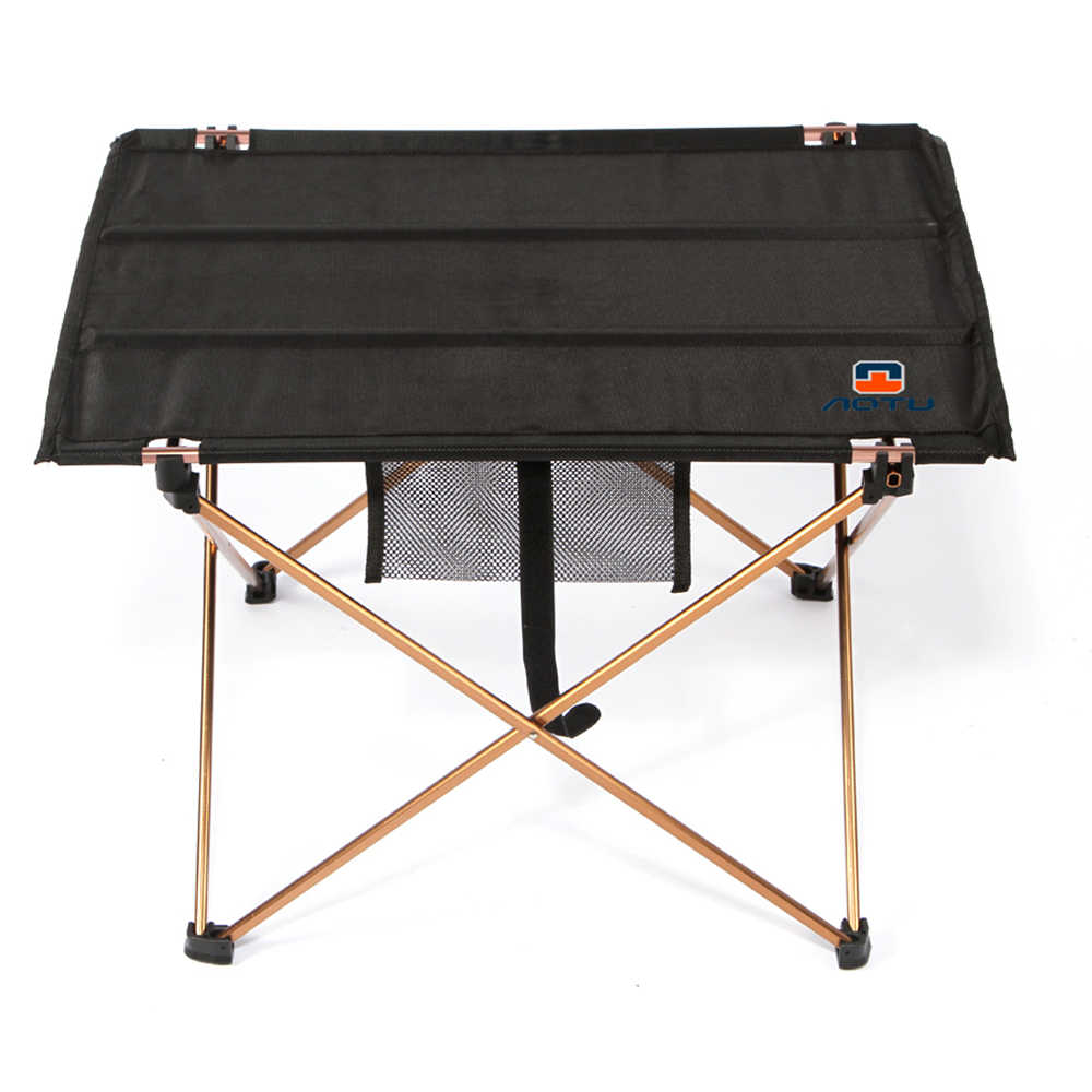 Portable Outdoor Camping Folding Tables Black Foldable Picnic Barbecue Desk Folding Table Furniture P20