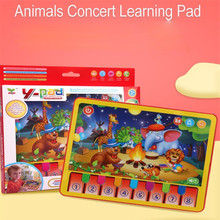Children Learning Machine Animals Concert Pad With Stories Songs Sensitively Screen Multi-functional Early Eduational