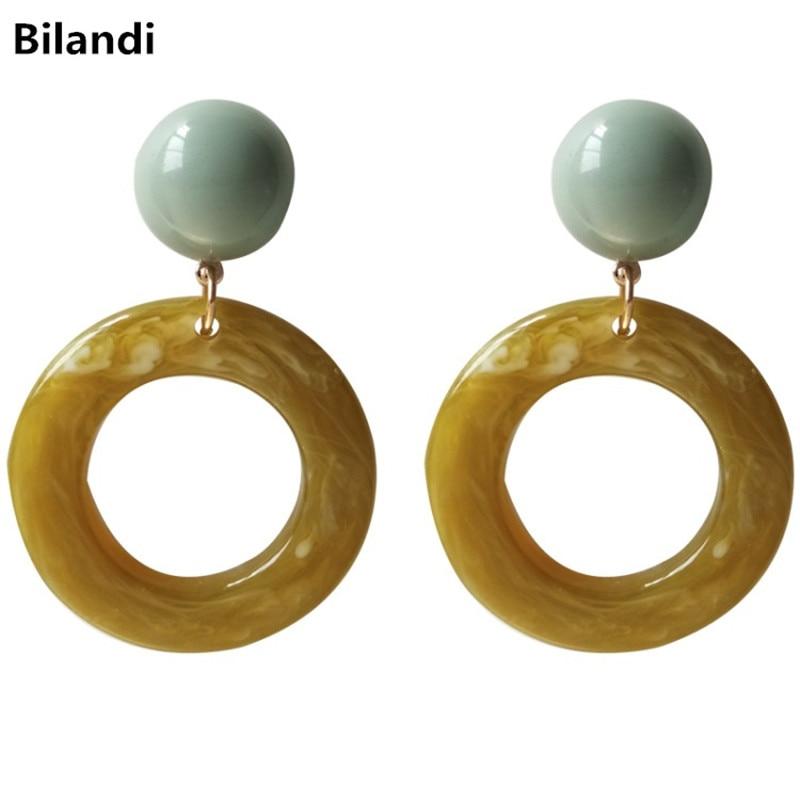 Resin Circle Drop Earrings