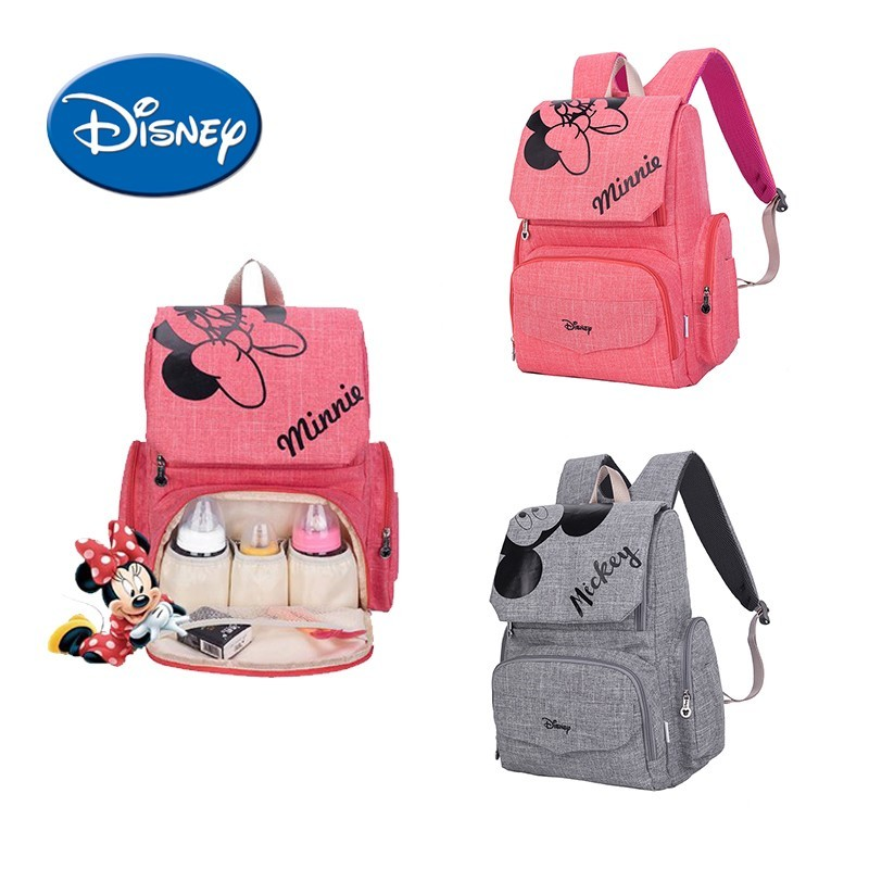 Disney Mummy Bag Practical And  Waterproof Diaper Bag Mummy Maternity Nappy Bag Travel Backpack Large Capacity With Gifts