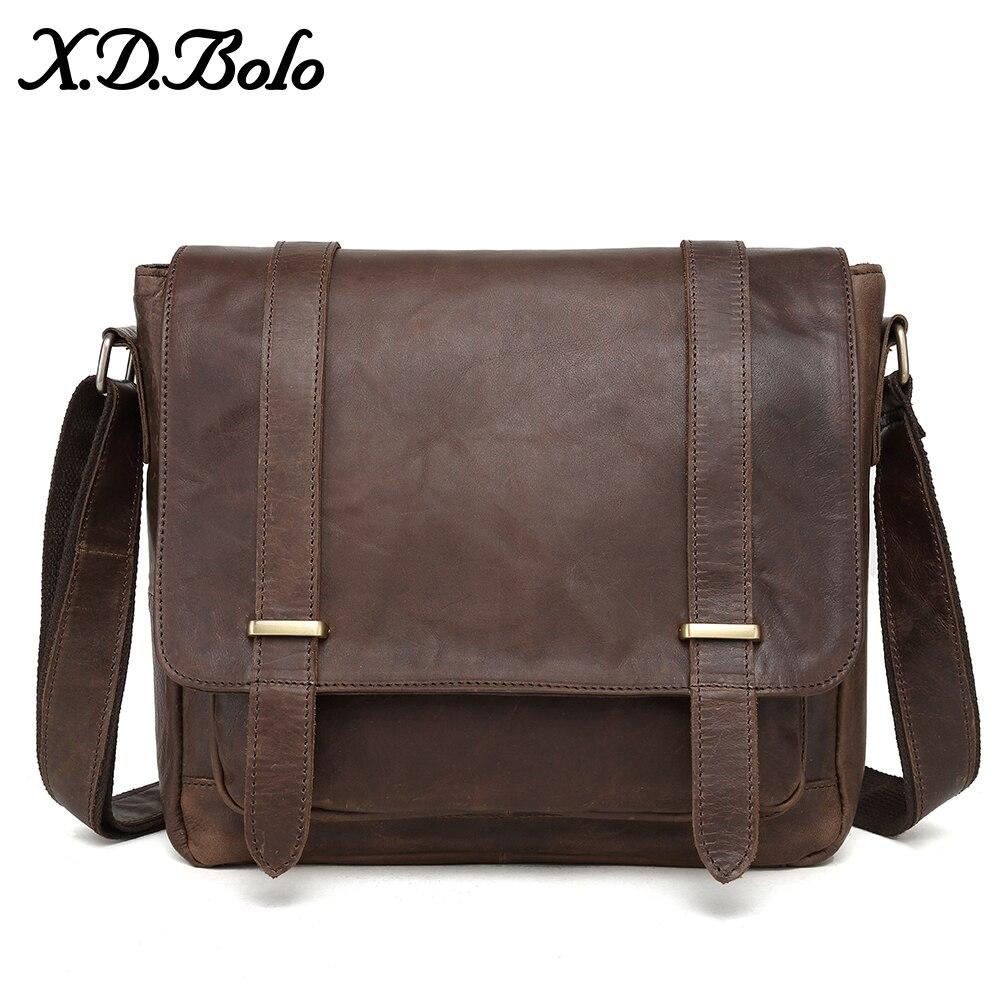 X D BOLO Messenger Bag Men Genuine Leather Men s Shoulder Bags Cowhide Casual Crossbody Bags