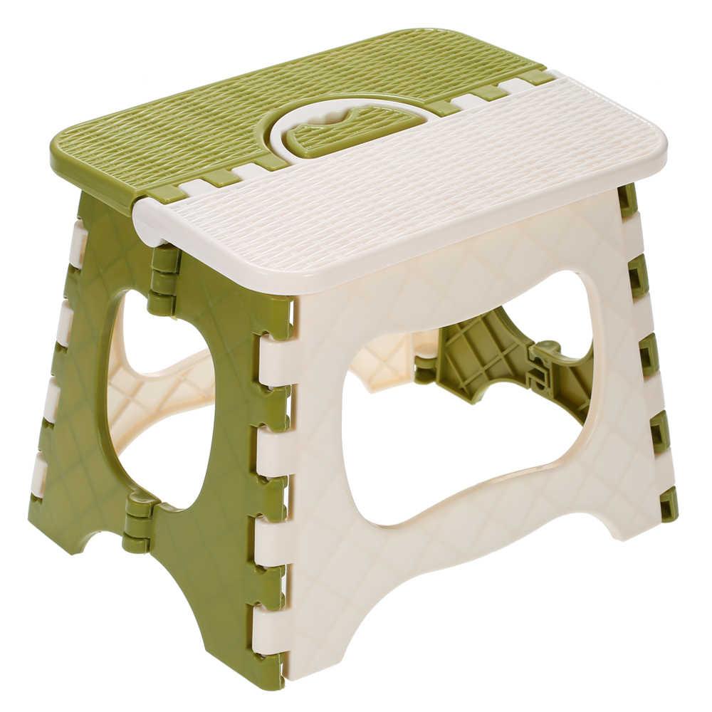 Crianças de Móveis de Plástico Banquinho Dobrável Cadeira Dobrável Portátil Pequena Cadeira de Móveis Para Casa de Jantar Conveniente Criança Fezes
