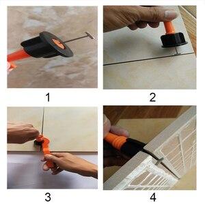 Image 4 - 타일 레벨러 50pcs 미니 재사용 가능한 T 형 바닥재 벽 타일 레벨러 레벨 로케이터 정렬 보조 핸드 툴 키트