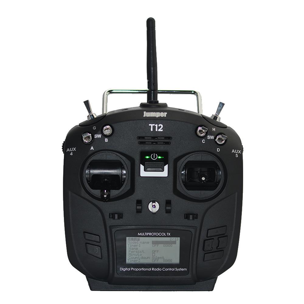 LeadingStar Jumper T12 Plus Multi-protocol Radio Transmitter w/ JP4-in-1 RF Module Hall Sensor Gimbal BlackLeadingStar Jumper T12 Plus Multi-protocol Radio Transmitter w/ JP4-in-1 RF Module Hall Sensor Gimbal Black