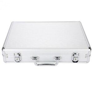 Image 5 - 24 grille valise en aluminium présentoir boîte de rangement montre boîte de rangement boîtier montre support horloge montre horloge boîte