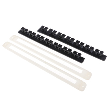 2x Plastic + Rubber Vertical Fishing Pole Storage Stand 7-Rod Holder Boat Rod Rack Wall Mount
