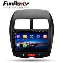 Funrover Auto Multimedia player 2 Din car dvd radio gps android 8.0 autoradio per Mitsubishi ASX 2010-17 stereo di navigazione WIFI FM