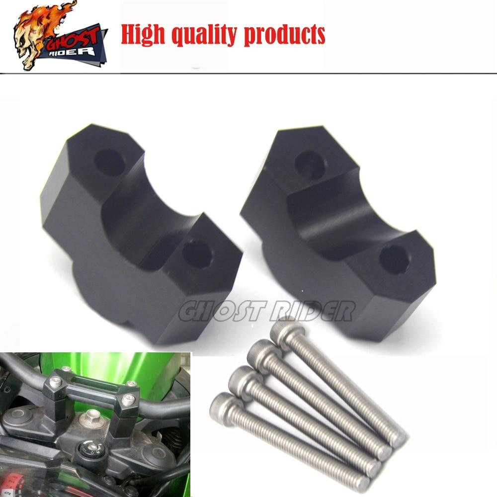 Pour Kawasaki Z750 Z750R Z750S Z1000 Z1000SX accessoires de moto poignée Bar pince surélevée étendre guidon montage Riser
