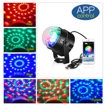 USB Rotating RGB LED Disco Light Ball Sound Party Lights DJ Stage Disco Lamp Moving Head DJ Laser Light Projector For Home Party