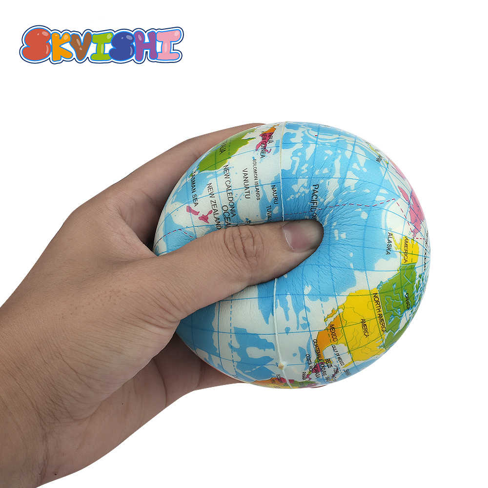 Popular Surprise Kids Squishy Toy Soft Squish Sports Stress Relief Antistress Decor Squeeze Plastic Earth Novelty Gag Shocker